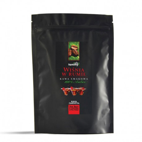 Tommy Cafe Wiśnia w Rumie - 250g - kawa smakowa ziarnista