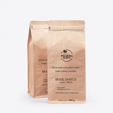 Krakowska Palarnia Kawy Brasil Santos - 1kg - kawa mielona