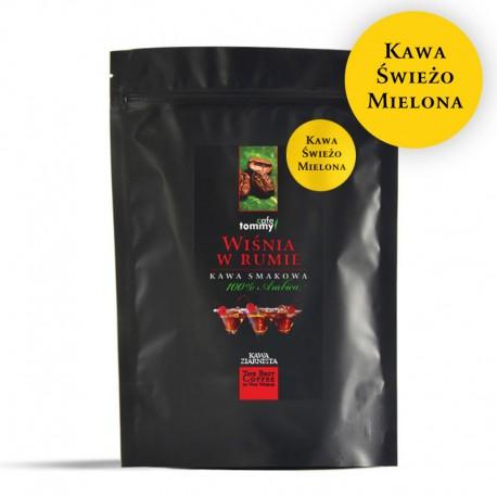 Tommy Cafe Wiśnia w Rumie - 1kg - kawa smakowa mielona
